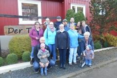 Helene, papa Dirk, mama Anja, Anna, Volkert, Sabine, Heiko, Renate, Jörg, Conny, Josefine, oma Margott, Maria und Danielle