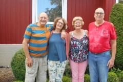 Wim, Annemarie, Petra en Bert